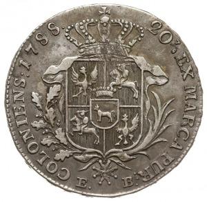 półtalar 1788 EB, Warszawa, krótsze gałązki palmowa, le...