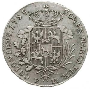 półtalar 1788 EB, Warszawa, dłuższe gałązki palmowe, sr...