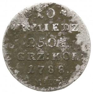 10 groszy miedzianych 1788 EB, Warszawa, z kropką po da...