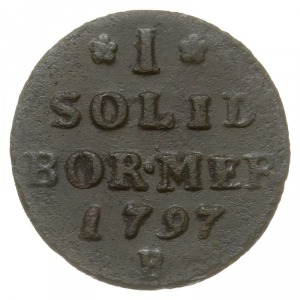 szeląg 1797 B, Wrocław, Plage 17, v.Schrötter 217, ciem...