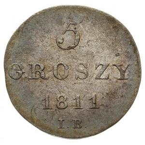5 groszy 1811 IB, Warszawa, Plage 96, moneta wybita na ...