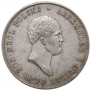 10 złotych 1820, Warszawa, srebro 31.00 g, Plage 23, Bi...