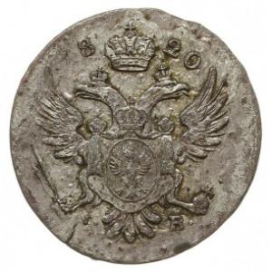 5 groszy 1820, Warszawa, Plage 116, Bitkin 858, patyna