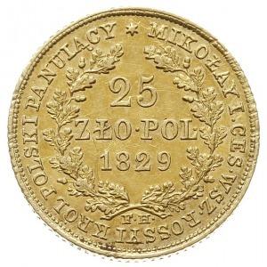 25 złotych 1829, Warszawa, pod wieńcem dębowym inicjały...