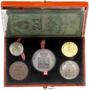 pamiątkowe pudełko z monetami i banknotem Powstania Lis...