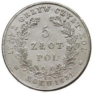 5 złotych 1831, Warszawa, Plage 272, Bitkin 2 (R), niez...