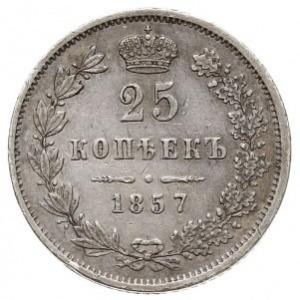 25 kopiejek 1857 MW, Warszawa, Plage 455, Bitkin 285 (R...