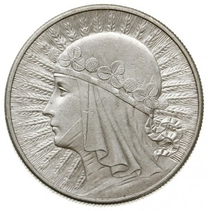 10 złotych 1932, Anglia - bez znaku mennicy, Głowa kobi...