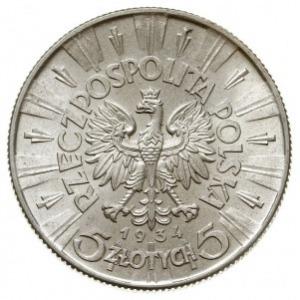 5 złotych 1934, Warszawa, Józef Piłsudski, Parchimowicz...