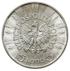 5 złotych 1936, Warszawa, Józef Piłsudski, Parchimowicz...