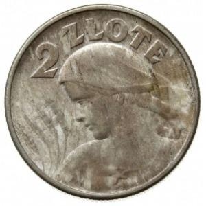 """2 złote 1924, Filadelfia, Kobieta z kłosami, """"odwrotka""""..."""