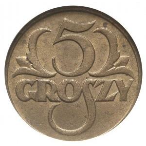 5 groszy 1923, Warszawa, Parchimowicz 103.a, moneta w p...