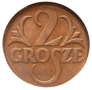 2 grosze 1937, Warszawa, Parchimowicz 102.l, moneta w p...