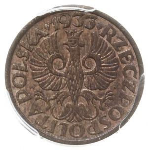 1 grosz 1933, Warszawa, Parchimowicz 101.h, moneta w pu...