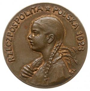 50 marek (bez nominału) 1923, Parchimowicz P 117a, brąz...
