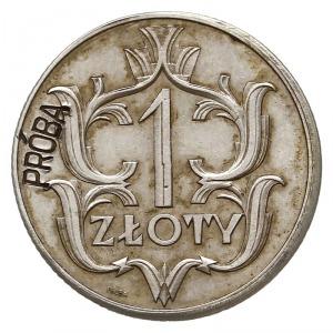 1 złoty 1929, Warszawa, na rewersie z lewej strony wklę...
