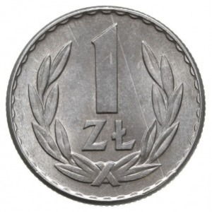 1 złoty 1965, Warszawa, Parchimowicz 213.b, aluminium, ...