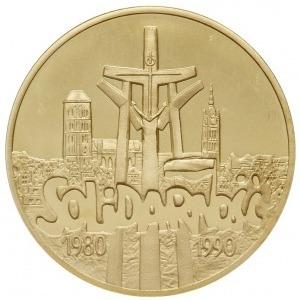 200.000 złotych 1990, USA, Solidarność 1980-1990, złoto...