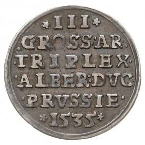 trojak 1535, Królewiec, odmiana z napisem PRVSS, Iger P...