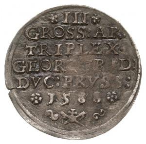 trojak 1588, Królewiec, odmiana z kropką po słowie TRIP...