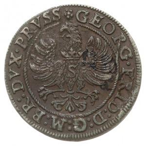 grosz 1586, Królewiec, pod popiersiem księcia znak Pawł...