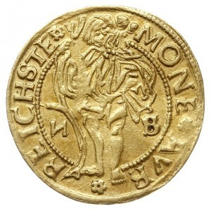 dukat 1527, Złoty Stok, Aw: Tarcza herbowa i napis woko...