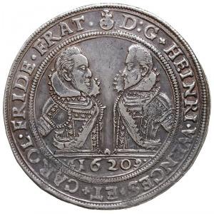 talar 1620, Oleśnica, Aw: Popiersia Henryka i Karola i ...