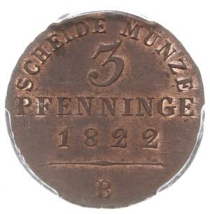 3 fengi 1822 B, Wrocław, AKS 33, moneta w pudełku PCGS ...