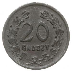 20 groszy Spółdzielni 6 Pułku Ułanów Kaniowskich, cynk,...