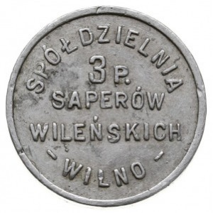 1 złoty Spółdzielni 3 Pułku Saperów, aluminium, Bartosz...
