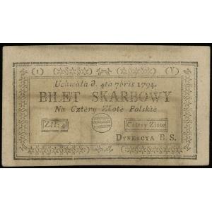 4 złote polskie 4.09.1794, seria 1-Y, Lucow 43y (R0), M...