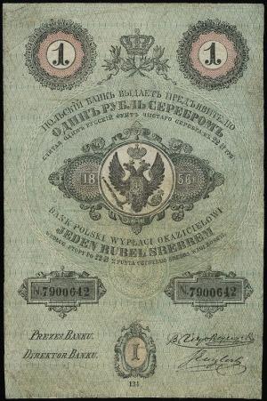 1 rubel srebrem 1856, seria 134, numeracja 7900642, pod...