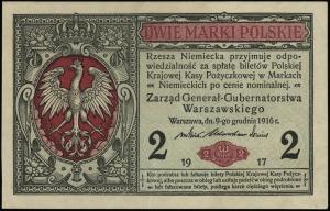 2 marki polskie 9.12.1916, Generał, seria B, numeracja ...