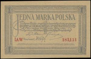 1 marka polska 17.05.1919, seria IAW, numeracja 383131,...