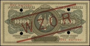 10.000 marek polskich 11.03.1922, nadruk Bez wartości /...