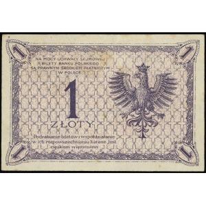 1 złoty 28.02.1919, seria 3 H, numeracja 071056, Lucow ...