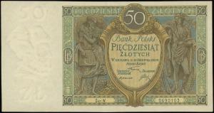 50 złotych 28.08.1925, seria W, numeracja 0690103, Luco...