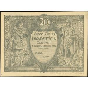 makieta strony głównej banknotu 20 złotych emisji 1.03....