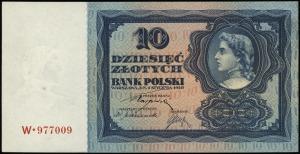 10 złotych 2.01.1928, seria W, numeracja 977009, Lucow ...