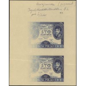 próba kolorystyczna strony głównej banknotów 100 złotyc...