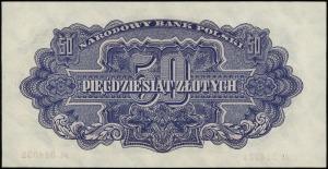 50 złotych 1944, w klauzuli OBOWIĄZKOWYM, seria АС, num...