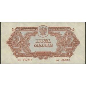 2 złote 1944, w klauzuli OBOWIĄZKOWE, seria dA, numerac...