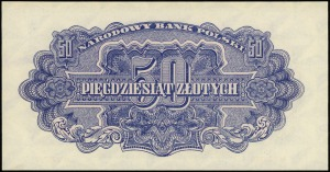 50 złotych 1944, w klauzuli OBOWIĄZKOWE, seria At, nume...