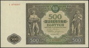 500 złotych 15.01.1946, seria I, numeracja 9778307, Luc...