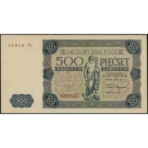 500 złotych 15.07.1947, seria P4, numeracja 282947, Luc...