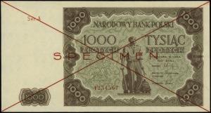 1.000 złotych 15.07.1947, czerwone dwukrotne przekreśle...
