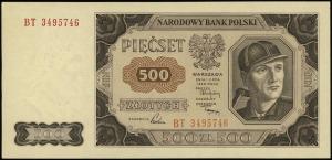 500 złotych 1.07.1948, seria BT, numeracja 34955746, Lu...