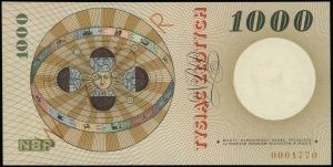 1.000 złotych 29.10.1965, na stronie głównej poziomo po...
