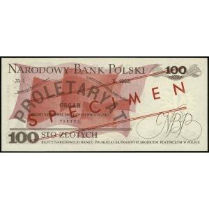 100 złotych 17.05.1976, czerwone ukośne WZÓR / SPECIMEN...