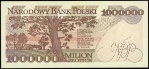 1.000.000 złotych 16.11.1993, seria M, numeracja 704754...